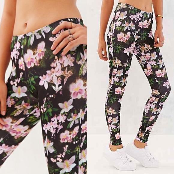 b517d9d43faac adidas Pants | Originals Orchid Floral Full Legging | Poshmark